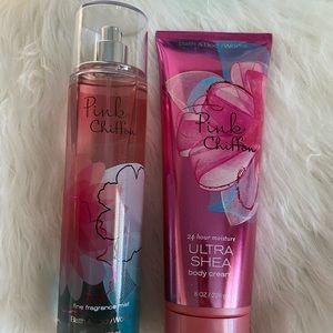 🐞 2 for $29 // pink chiffon set bath & body works